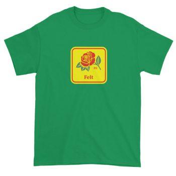 Felt Rose Short sleeve t-shirt