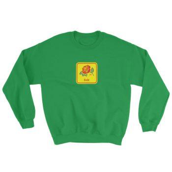 Felt rose Sweatshirt