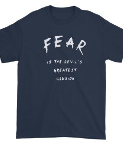 mockup 1604d72c 247x296 - fear is the devil greatest illusion Short sleeve t-shirt