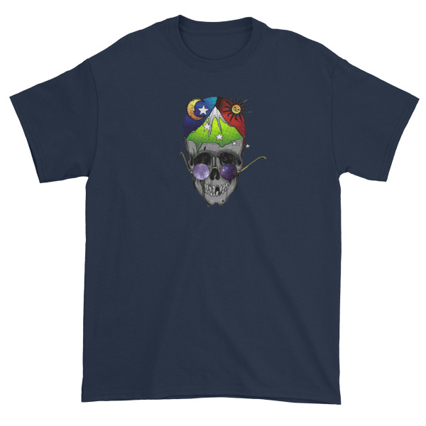 mockup ef88cae9 - skull art Short sleeve t-shirt