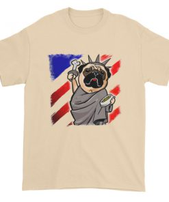 Independence Day Pug Statue of Liberty Pug USA Short sleeve t shirt