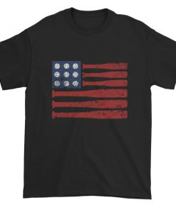 Baseball American Flag – Independence Day 4th July Short sleeve t-shirt