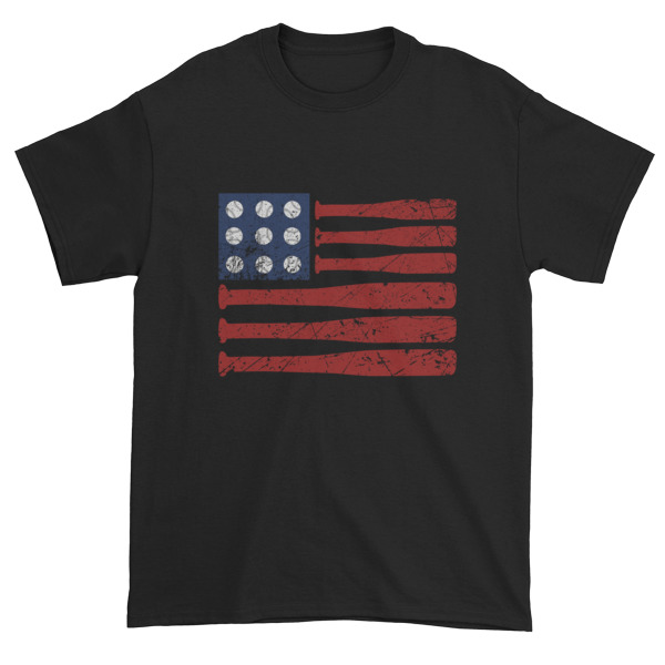 Baseball American Flag - Independence Day 4th July Short sleeve t-shirt