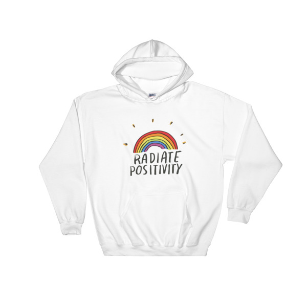 radiate positivity rainbow Hooded Sweatshirt