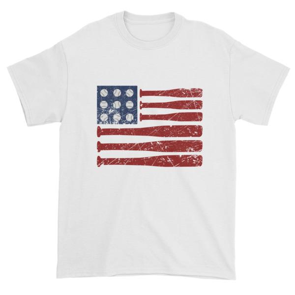 mockup 5793f1ee - Baseball American Flag - Independence Day 4th July Short sleeve t-shirt