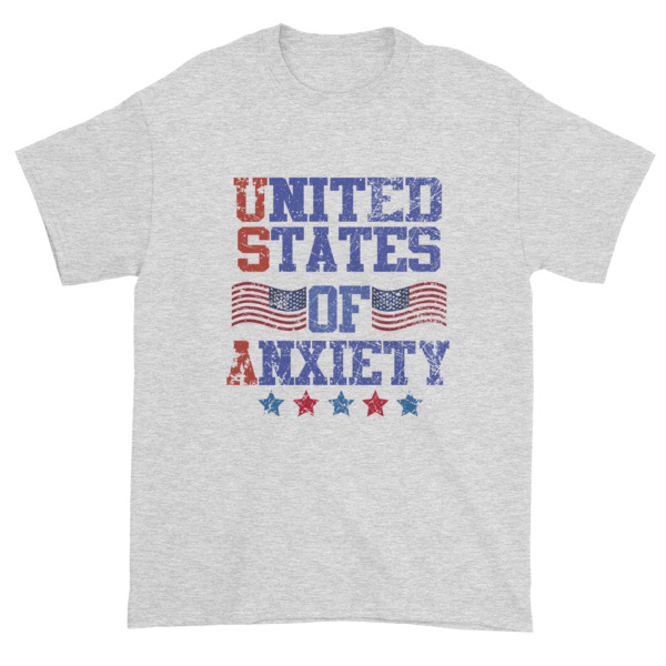 mockup 6884ac78 - Independence Day 4th july - United States Of Anxiety Short sleeve t-shirt