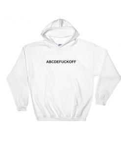 ABCDE Fuck Off Hooded Sweatshirt
