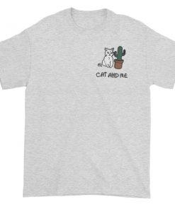 Cranky Cat Cactus Graphic Tees shirt