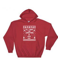 All I Want For Christmas josh dun Hooded Sweatshirt