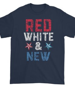 mockup b01f6a96 247x296 - Red white and new - Independence Day 4th July Short sleeve t-shirt