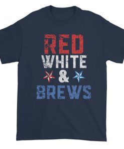 mockup b4e12b3b 247x296 - red white and brews - Independence Day 4th July Short sleeve t-shirt
