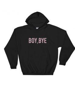boy bye purple Hooded Sweatshirt