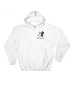 cranky cat and cactus Hooded Sweatshirt