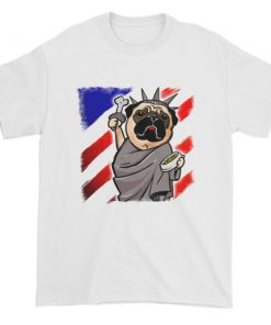 Independence Day Pug - Statue of Liberty Pug USA Short sleeve t-shirt