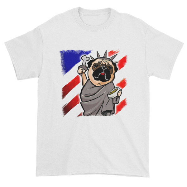 Independence Day Pug - Statue of Liberty Pug USA Short sleeve t-shirt