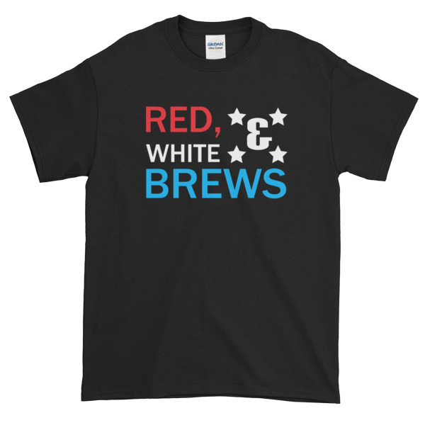 RED WHITE & BREWS – funny 4th of July Short sleeve t-shirt