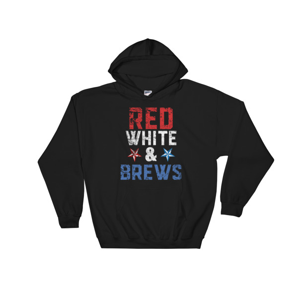 red white and brews – 4th July fest Hooded Sweatshirt
