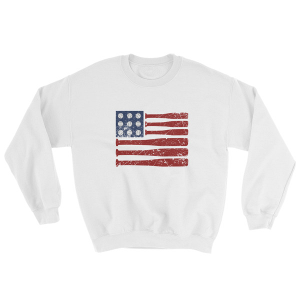 Baseball American Flag – Independence Day 4th July Sweatshirt