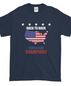 mockup 4bd466c2 247x296 - back to back world war champs - funny 4th of July Short sleeve t-shirt