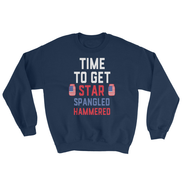 mockup 7b137ce1 - Time to get star spangled hammered – funny 4th of July Sweatshirt
