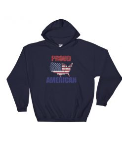 Proud american 4th July fest Hooded Sweatshirt