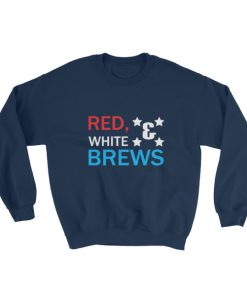 mockup 94d87f68 247x296 - RED WHITE & BREWS – funny 4th of July Sweatshirt