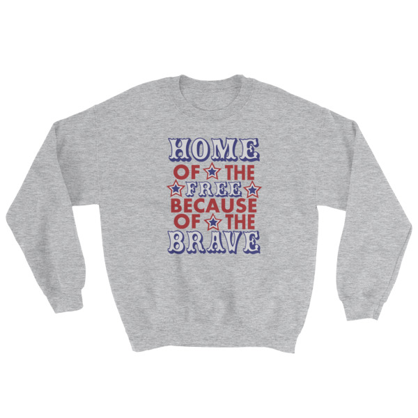 mockup b5466b05 - Independence Day Home Of Free Because Of Brave Sweatshirt