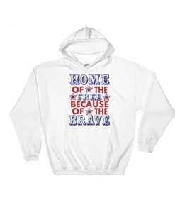 mockup ce0f38f0 247x296 - Home Of The Brave - 4th Of July fest Hooded Sweatshirt