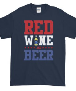 mockup ce3f0e50 247x296 - Red Wine and Beer - funny 4th of July Short sleeve t-shirt