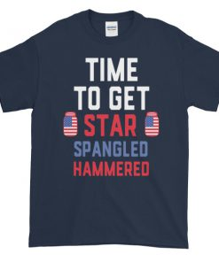 mockup e743a55e 247x296 - Time to get star spangled hammered - funny 4th of July Short sleeve t-shirt