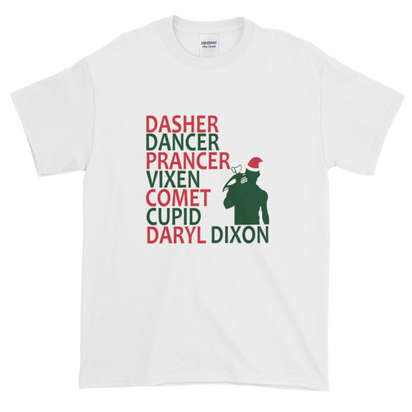 mockup 0b81386d - The Walking Dead Daryl Dixon Christmas Graphic Tees Shirt