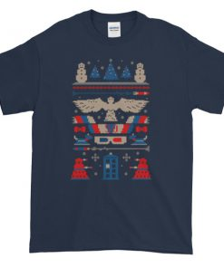 mockup 236c555b 247x296 - DOCTOR WHO Tardis Ugly Christmas Graphic Tees Shirt
