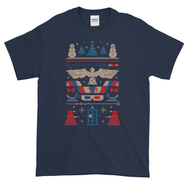 DOCTOR WHO Tardis Ugly Christmas Graphic Tees Shirt