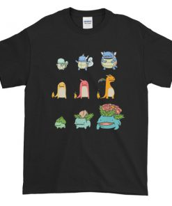 mockup c9a651f9 247x296 - Character Evolution Poke Graphic Tees Shirt CPD 001