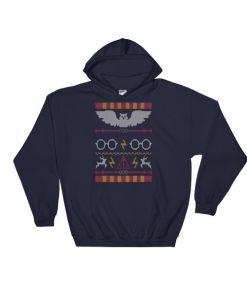 mockup 185d2d8e 247x296 - Harry Potter Ugly Christmas Pattern Hooded Sweatshirt