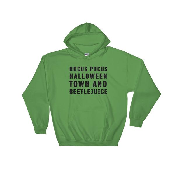 Hocus Pocus, Halloween Town & Beetlejuice Hooded Sweatshirt