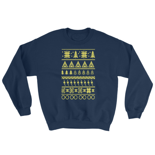mockup 002fc0a4 - Harry Potter Ugly Christmas Sweatshirt