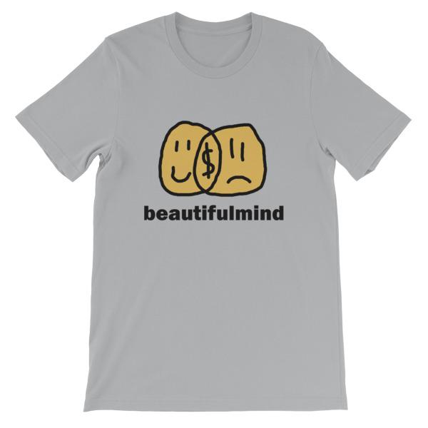 mockup 28c2c6e7 - Beautiful Mind Short-Sleeve Unisex T-Shirt