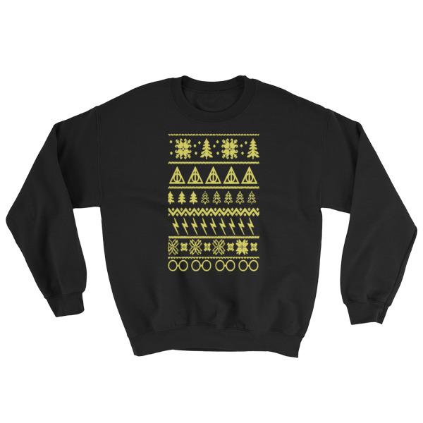 mockup 5ae1719d - Harry Potter Ugly Christmas Sweatshirt