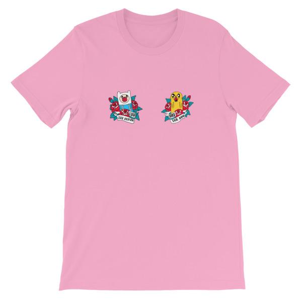 533434b6fed4 mockup 5bb2bd3f - Adventure time yugyeom korean Short-Sleeve Unisex T-Shirt