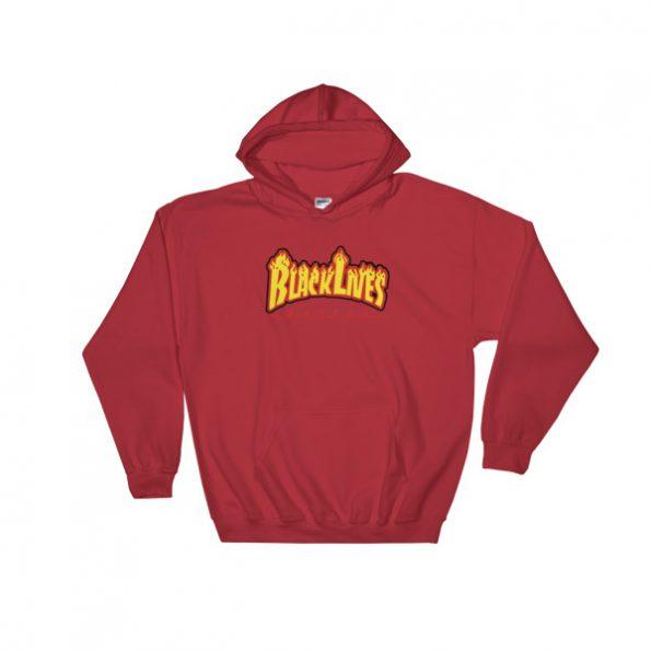 Black lives matter fire Hooded Sweatshirt