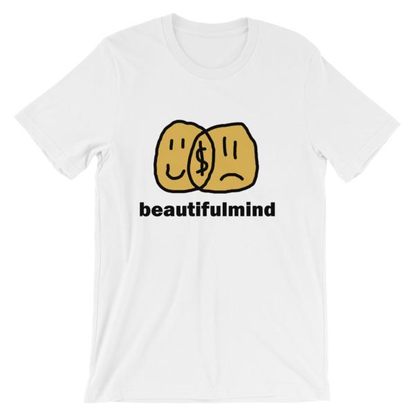 mockup a36b27d3 - Beautiful Mind Short-Sleeve Unisex T-Shirt