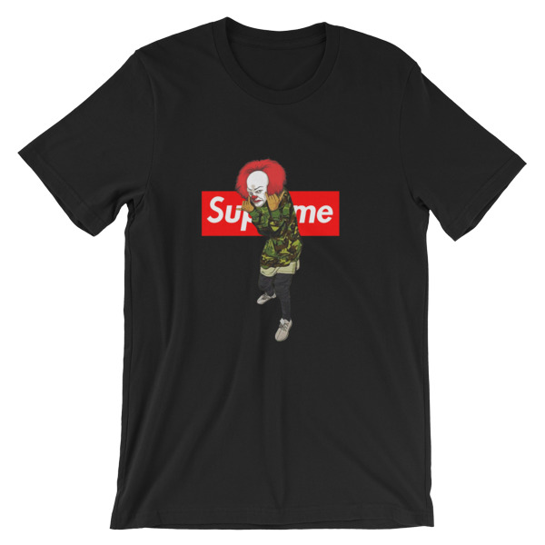 82c9edb3a pennywise bape supreme Short-Sleeve Unisex T-Shirt - Cheap Graphic Tees