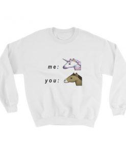 mockup 266f168a 247x296 - Me unicorn and you horse Sweatshirt
