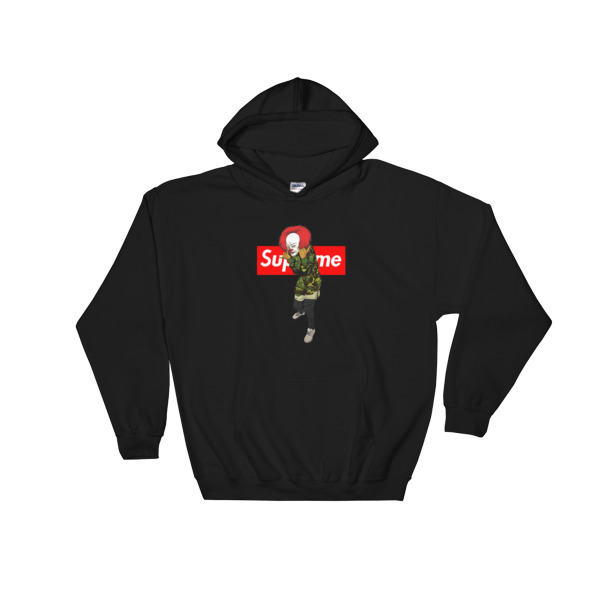 66f8a700 pennywise bape supreme Hooded Sweatshirt - Cheap Graphic Tees