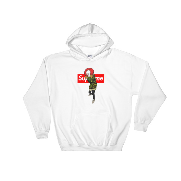 c88e9f77 pennywise bape supreme Hooded Sweatshirt - Cheap Graphic Tees