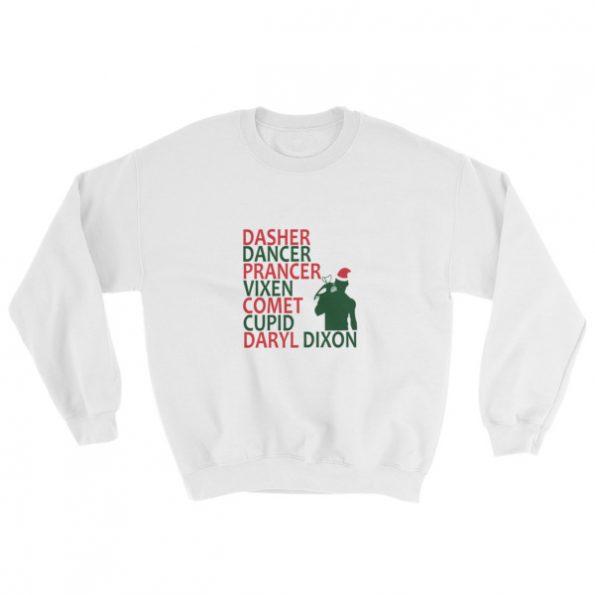 daryl dixon christmas Sweatshirt