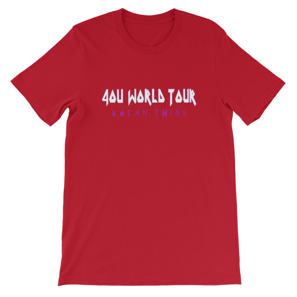4ou World Tour Short Sleeve Unisex T Shirt