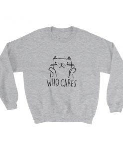 mockup 5415cd80 247x296 - who cares cat Sweatshirt