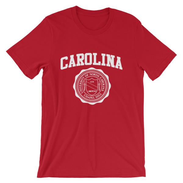 University of north carolina short sleeve unisex t shirt for University of north carolina t shirts